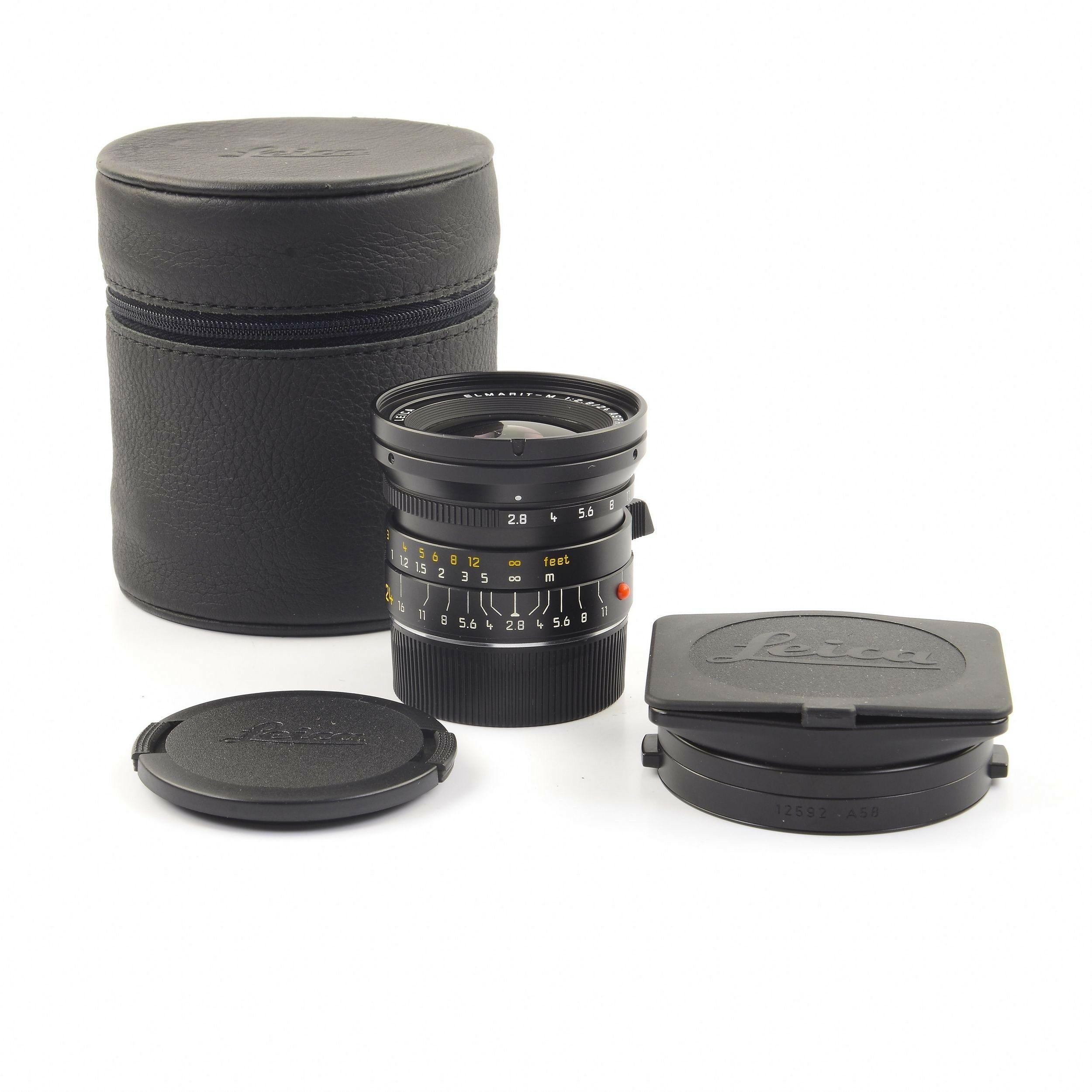 Leica 24mm f2 8 Elmarit-M ASPH Black