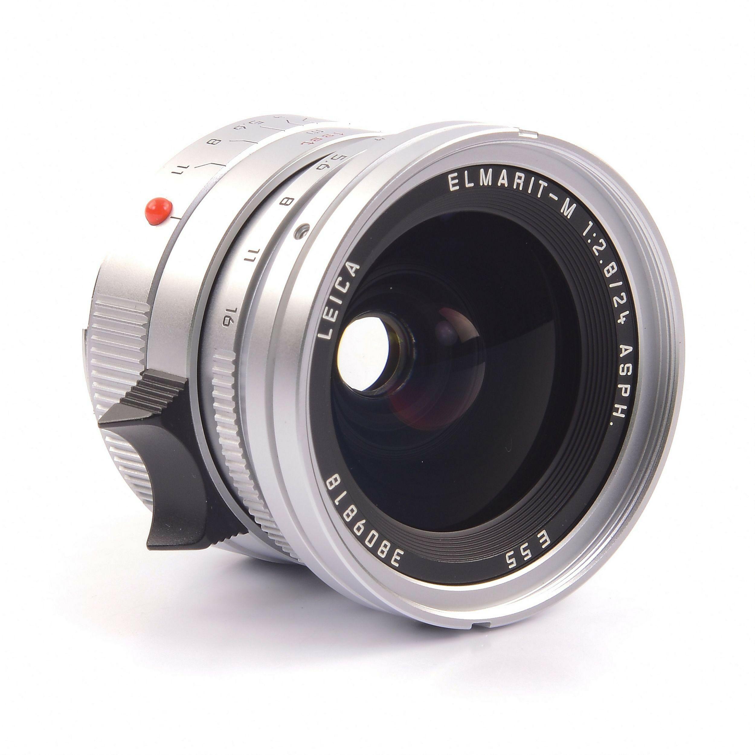 Leica 24mm f2 8 Elmarit-M ASPH Silver + Box Rare