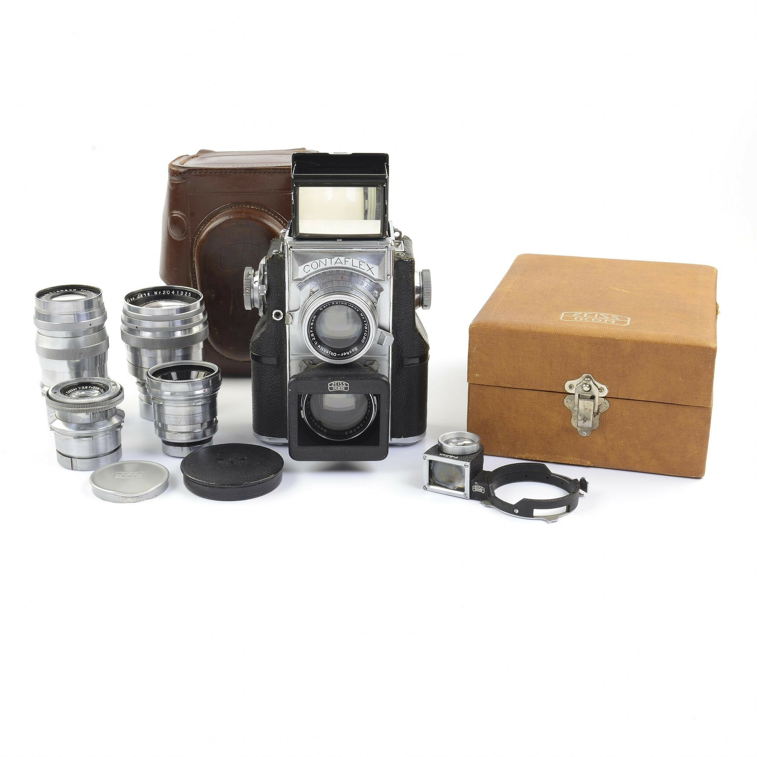 Zeiss Ikon Contaflex TLR Complete with 35mm / 50mm / 85mm Lenses +  Accessories Extremely Rare