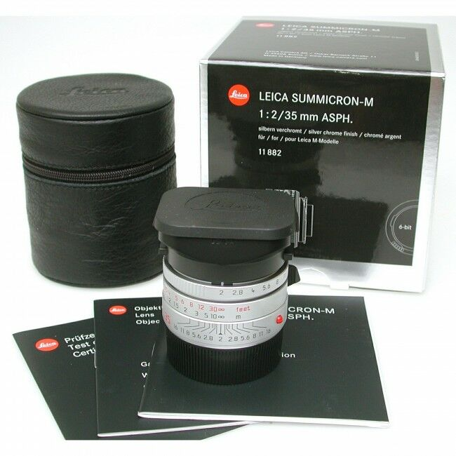 Leica 35mm f2 Summicron-M ASPH Silver + Box