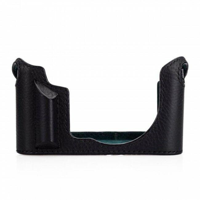Arte Di Mano Aventino Half Case + Strap Black For Leica CL With Battery Access Door + Box