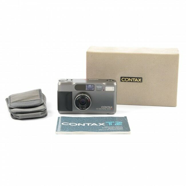 Contax T2 Titan Black 35mm Point And Shoot Film Camera