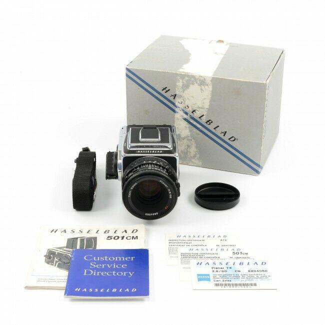Hasselblad 501CM Chrome Set + 80mm CB + A12 + Box