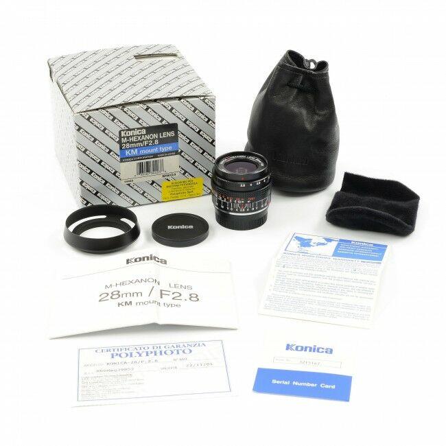 Konica M-Hexanon 28mm f2.8 NOS + Box