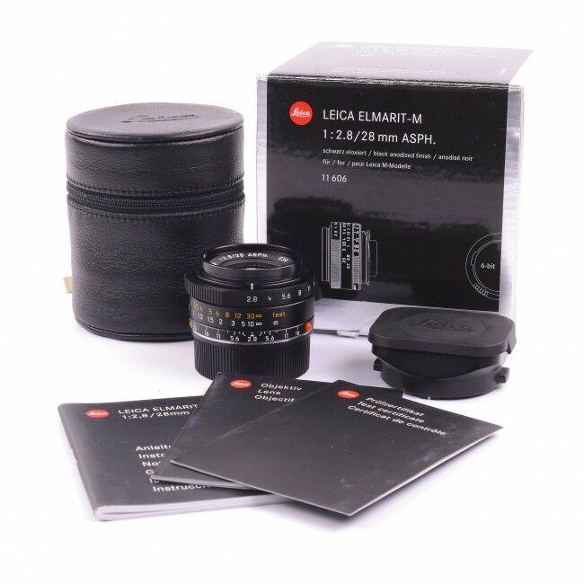 Leica 28mm f2.8 Elmarit-M ASPH 6-bit + Box Pre-Series Rare
