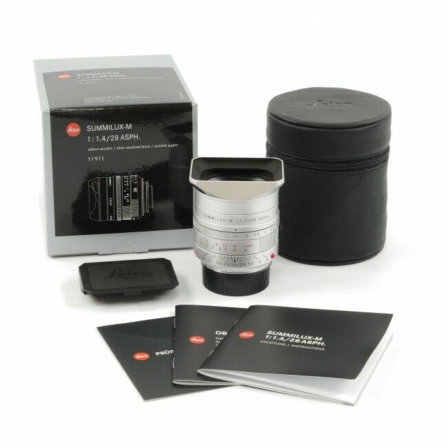Leica 28mm f1.4 Summilux-M ASPH Silver + Box