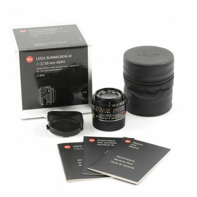 Leica 35mm f2 Summicron-M ASPH Black 6-Bit + Box
