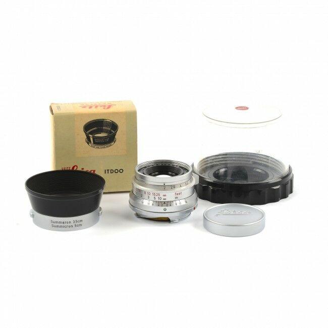 Leica 35mm f2 Summicron 8 Element Germany + ITDOO Lens Hood