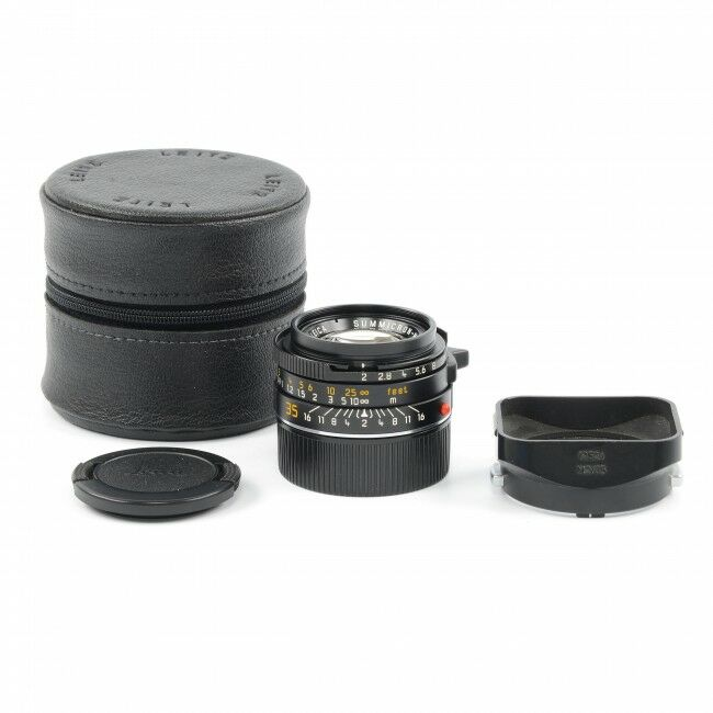 Leica 35mm f2 Summicron-M Black 4th Version King Of Bokeh Germany