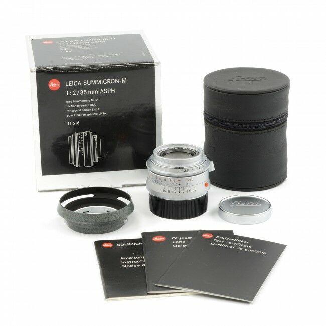 Leica 35mm f2 Summicron-M ASPH Hammertone LHSA + Box