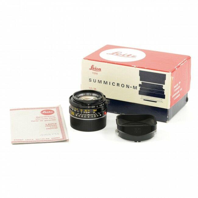 Leica 35mm f2 Summicron-M Black 4th Version King Of Bokeh + Box