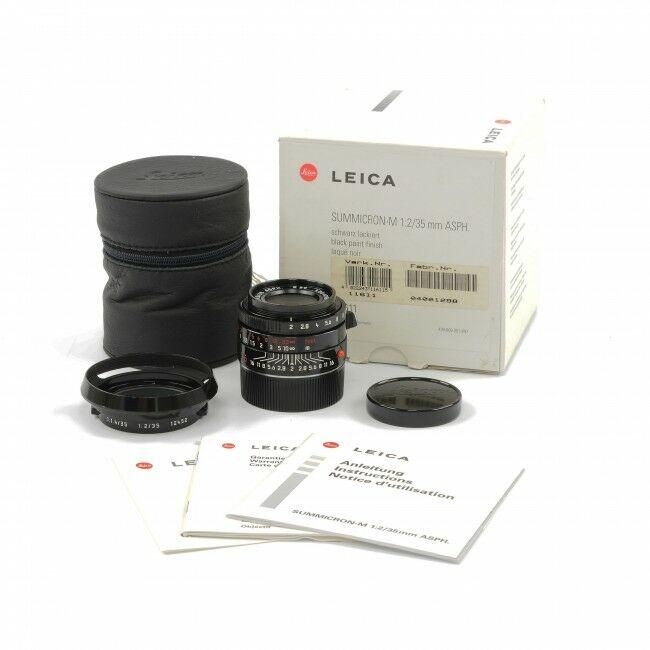 Leica 35mm f2 Summicron-M Millennium Black Paint + Box