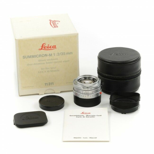 Leica 35mm f2 Summicron-M Silver 4th Version King Of Bokeh + Box