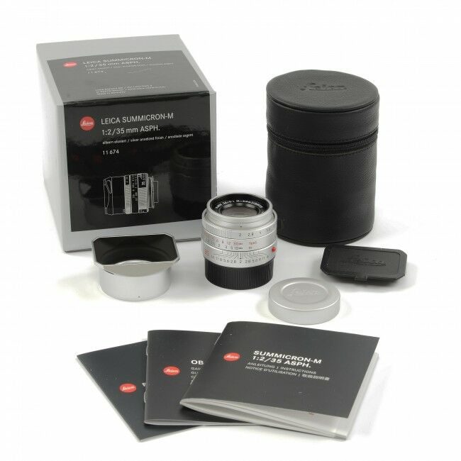 Leica 35mm f2 Summicron-M ASPH MK II Silver + Box