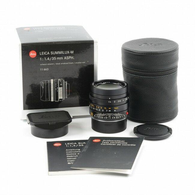 Leica 35mm f1.4 Summilux-M ASPH Black FLE MK II + Box