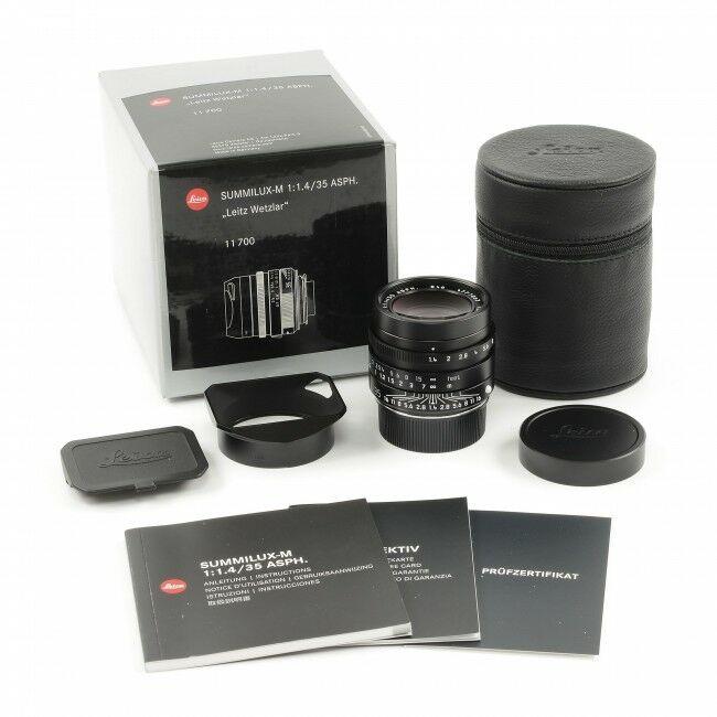 """Leica 35mm f1.4 Summilux-M ASPH Black FLE MK II """"Leitz Wetzlar"""" + Box"""