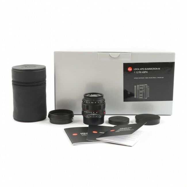 Leica 50mm f2 APO-Summicron-M ASPH Black Chrome + Box