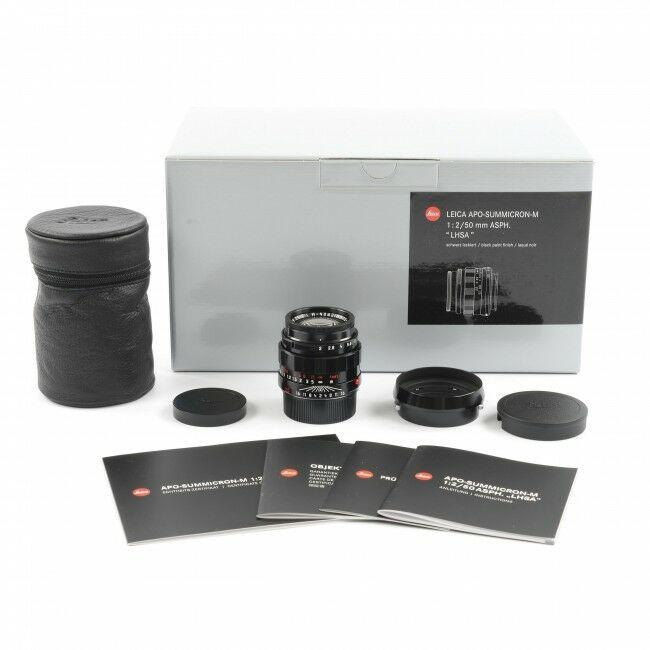 Leica 50mm f2 APO-Summicron-M ASPH LHSA Black Paint + Box