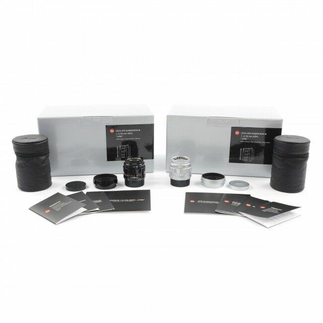 Leica 50mm f2 APO-Summicron-M ASPH LHSA Set Silver + Black Paint + Box