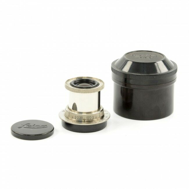 Leica 50mm f2.5 Hektor Nickel Short Tube 11 O'Clock + Bakelite Container
