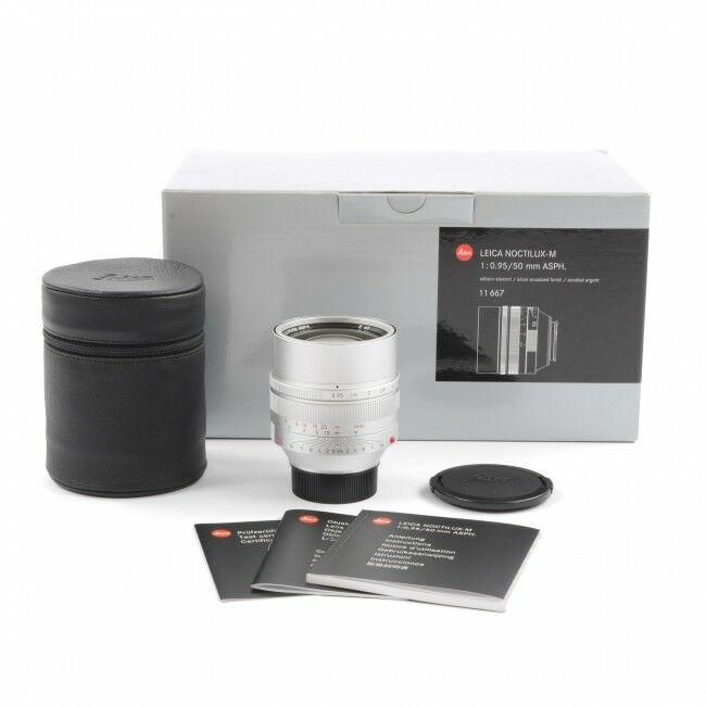 Leica 50mm f0.95 Noctilux-M ASPH Silver + Box