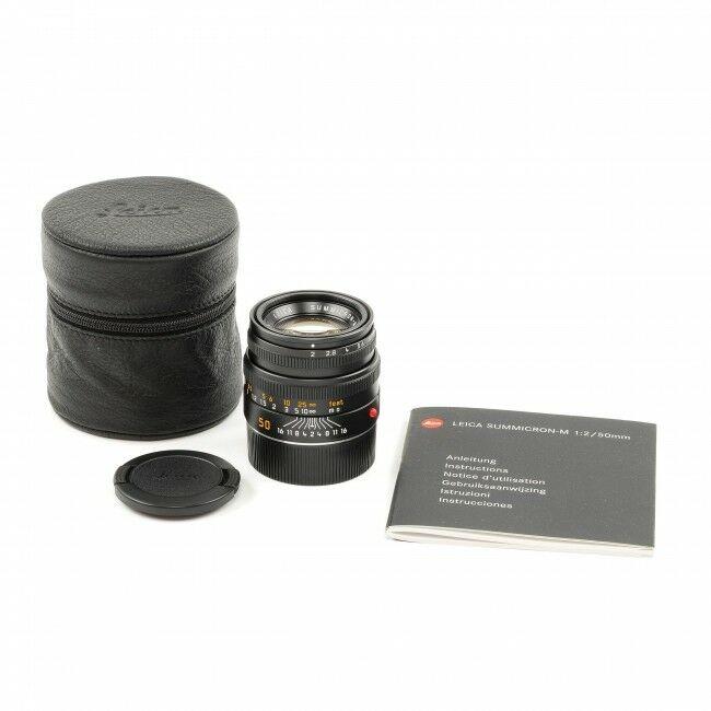 Leica 50mm f2 Summicron-M Black 6-Bit