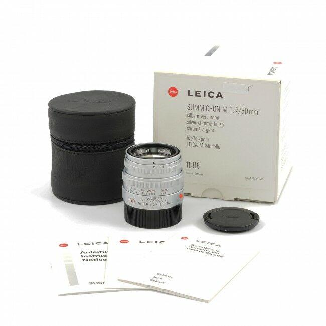Leica 50mm f2 Summicron-M Silver + Box