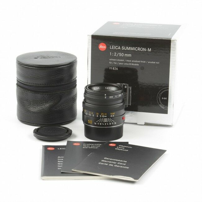 Leica 50mm f2 Summicron-M Black 6-bit + Box