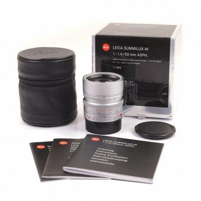 Leica 50mm f1.4 Summilux-M ASPH Silver 6-Bit + Box