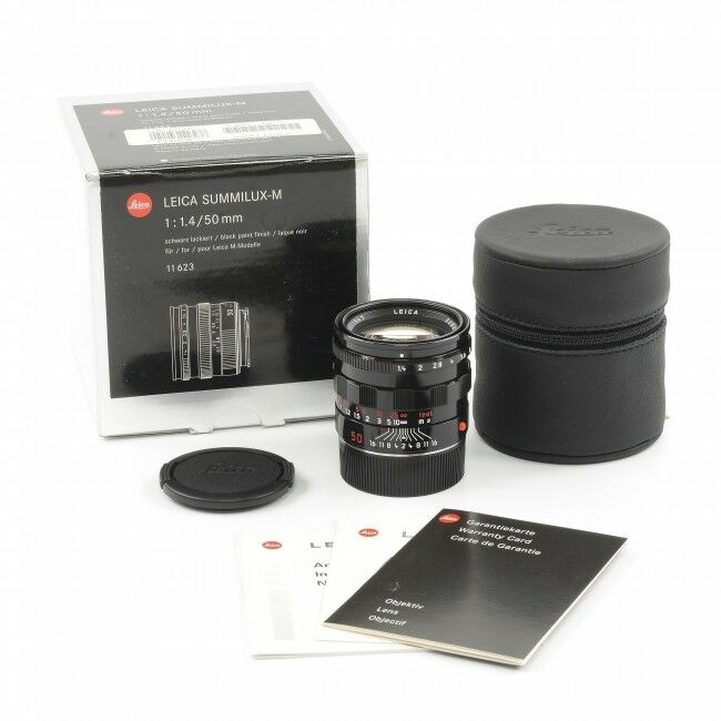 Leica 50mm f1.4 Summilux-M Millennium Black Paint + Box