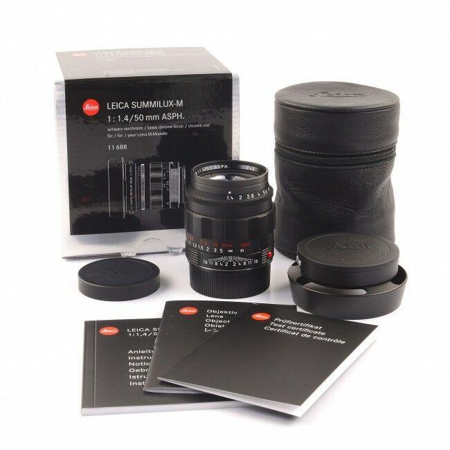 Leica 50mm f1.4 Summilux-M ASPH Black Chrome Limited Edition + Box