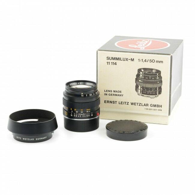 Leica 50mm f1.4 Summilux Black + Box