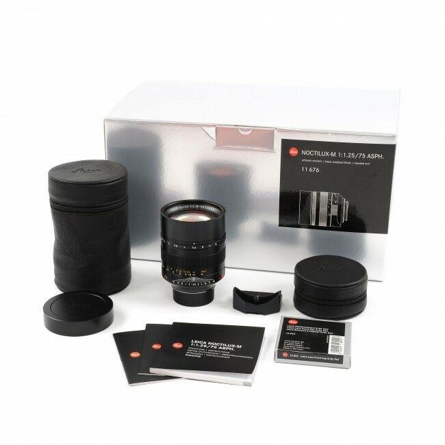 Leica 75mm f1.25 Noctilux-M ASPH + Box