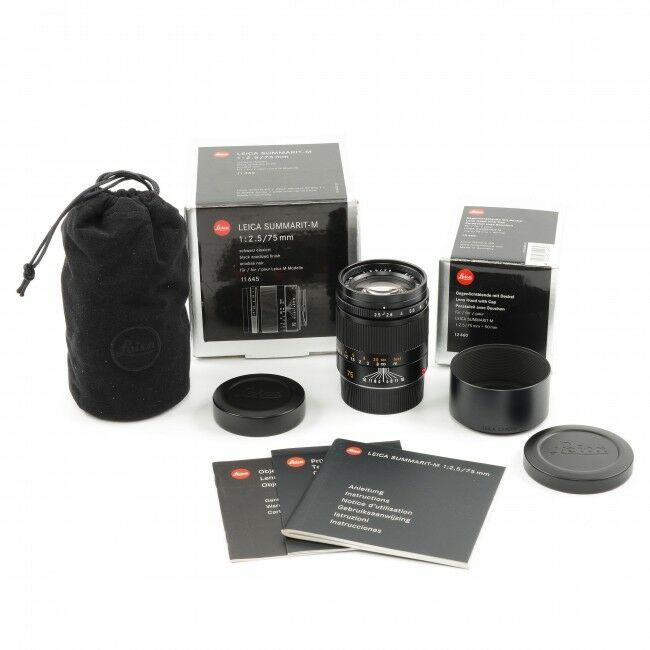 Leica 75mm f2.5 Summarit-M + Box