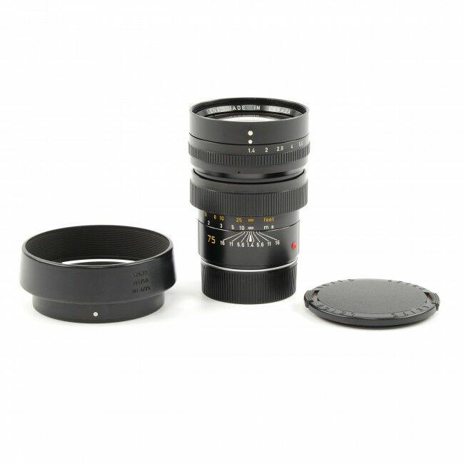 Leica 75mm f1.4 Summilux-M 1st Version + 12539 Hood