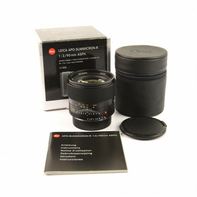Leica 90mm f2 APO-Summicron-R ROM + Box