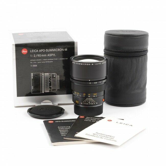 Leica 90mm f2 APO-Summicron-M ASPH Black + Box