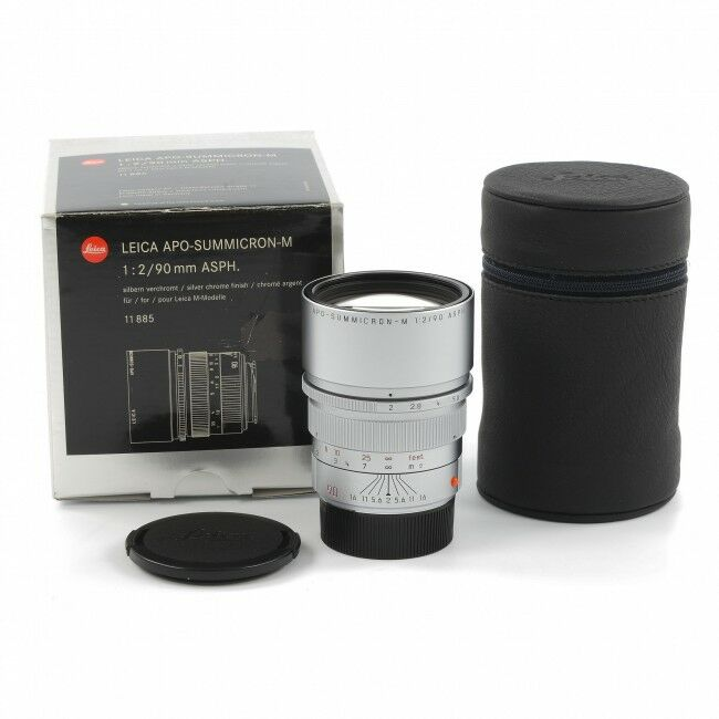 Leica 90mm f2 APO-Summicron-M Silver + Box