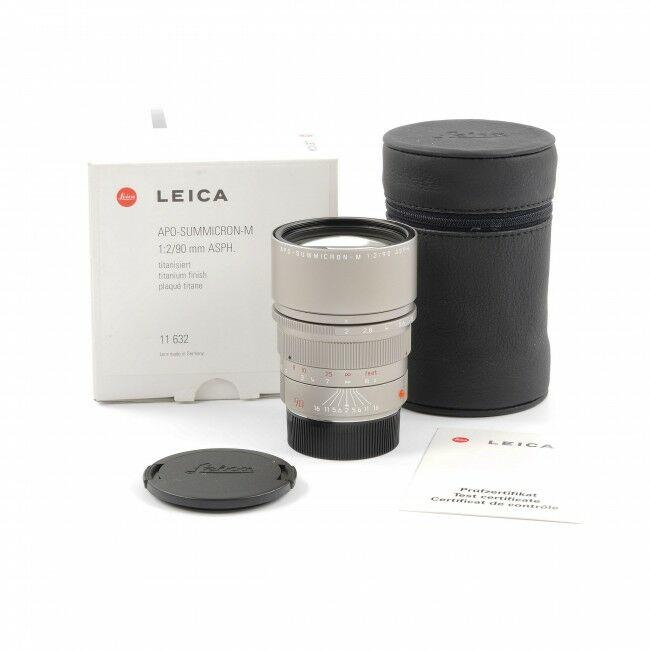 Leica 90mm f2 APO-Summicron-M ASPH Titanium + Box