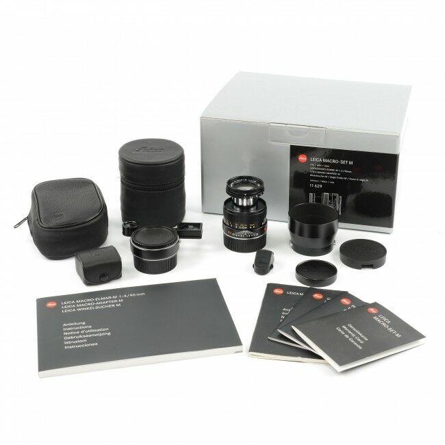 Leica 90mm f4 Macro-Elmar-M Black Set 6-Bit + Box