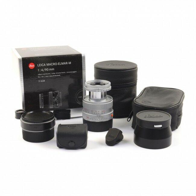 Leica 90mm f4 Macro-Elmar-M Silver Set 6-Bit + Box