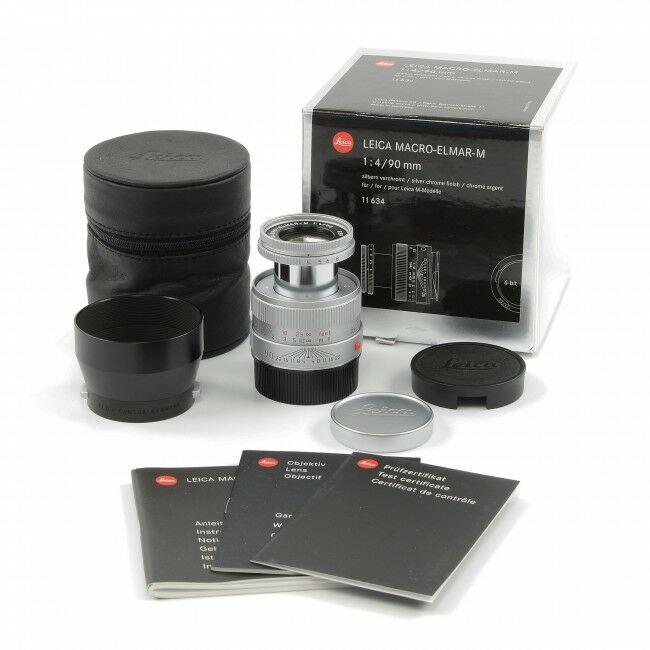 Leica 90mm f4 Macro-Elmar-M Silver 6-Bit + Box