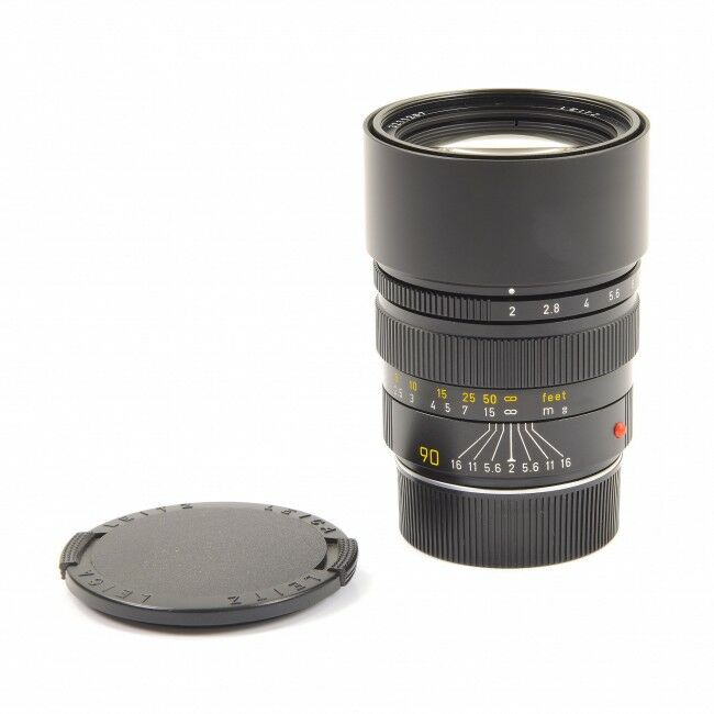 Leica 90mm f2 Summicron-M Black