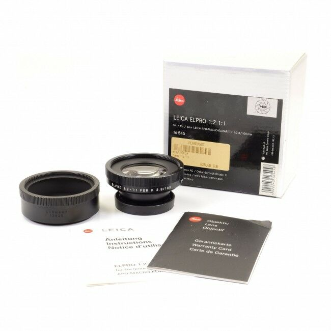 Leica ELPRO 1:2-1:1 For 100mm f2.8 APO-Macro-Elmarit-R + Box