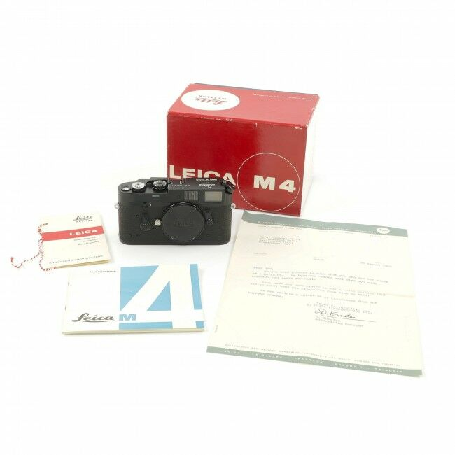 Leica M4 Black Paint + Box Museum Condition Extremely Rare