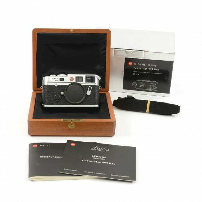 """Leica M6 TTL 0.85 Silver """"Die Letzten 999 M6"""" + Box"""