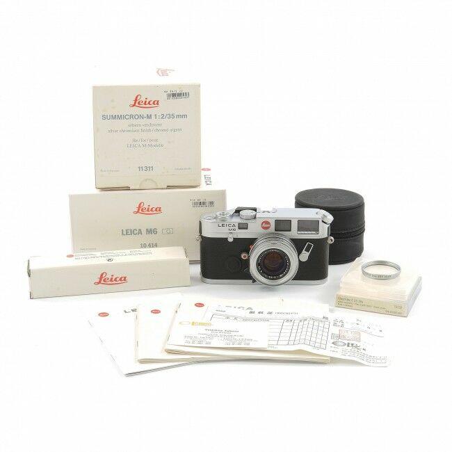 Leica M6 Non TTL Silver + 35mm f2 Summicron-M Silver King Of Bokeh Set + Box
