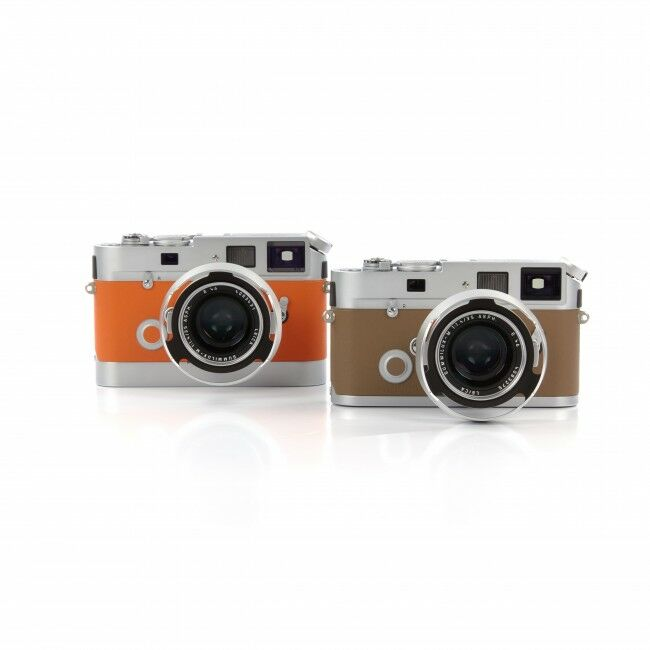 Leica M7 Edition Hermès Veau Swift Orange + Etoupe Set