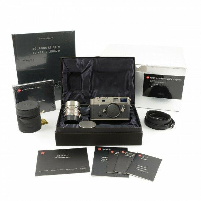 "Leica M7 Titanium Set ""50 Jahre Leica M System"" + Box"