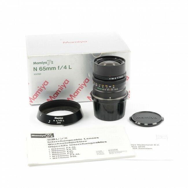 Mamiya 65mm f4 L Lens + Box For 7 / 7 II